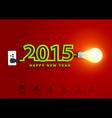 2015 happy new year concept creative light bulb vector