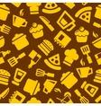 Seamless kitchen pattern vector
