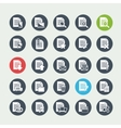Document file icons vector