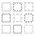 Collection of hand drawn ornamental square frames vector
