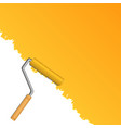 Orange background with paint roller vector