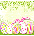 Springtime easter holiday greeting card vector