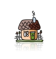 House icon sketch for your design vector