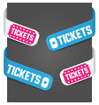 Left and right side signs - tickets vector