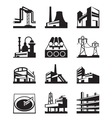 Different types of industrial construction vector