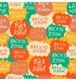 Seamless school pattern with speech bubbles vector
