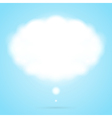 Abstract cloud speech bubble vector