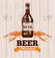 Oktoberfest vintage background beer hand drawn me vector