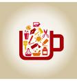 Art a cup vector