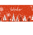 Winter background in red and white colours vector