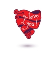 I love you design template for your design vector