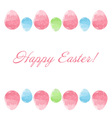 Hand drawn design easter eggs border frame vector