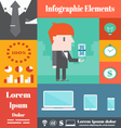 Business infographic elements vector