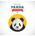 Weekly panda cute flat animal icon - winking vector
