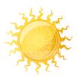Big sun with wavy rays vector