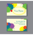 Business card with blots vector