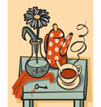 Tea still life vector