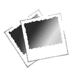 Two image with black dots vector