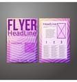 Abstract brochure flyer design vector
