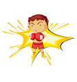 Boxing boy vector