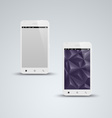 Abstract white smart phone background vector