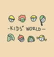 Kids world vector