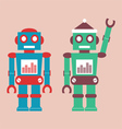 Cute vintage robot vector