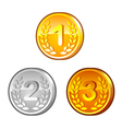 Medals with numerals vector