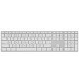 Standard us keyboard vector