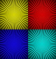 Set of colourful radial rays abstract background vector