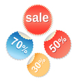 Special offer labels set vector