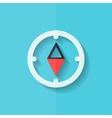 Compass web icon flat design vector