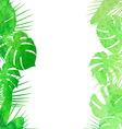 Watercolor tropical leaves vector