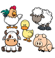 Animals farm vector