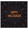 Halloween card design with zombie hands around vector