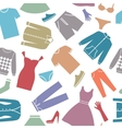 Seamless background with clothes vector