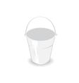 Metal bucket vector