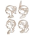 Fashion woman cartoon vector