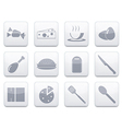 White food app icon set eps10 vector