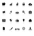 General document icons with reflect on white vector