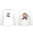 Monkey t-shirt vector