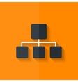 Network icon flat design vector