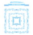Set of vintage watercolor frames vector