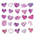 Love heart isolated vector