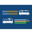 Transportation infographic elements vector