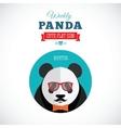 Weekly panda cute flat animal icon - hipster vector