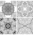Set of patterns with circle ornament vector