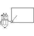Teacher pencil cartoon vector