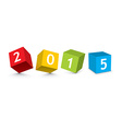 2015 made from toy blocks vector