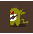 Crazy little monster with wings vector